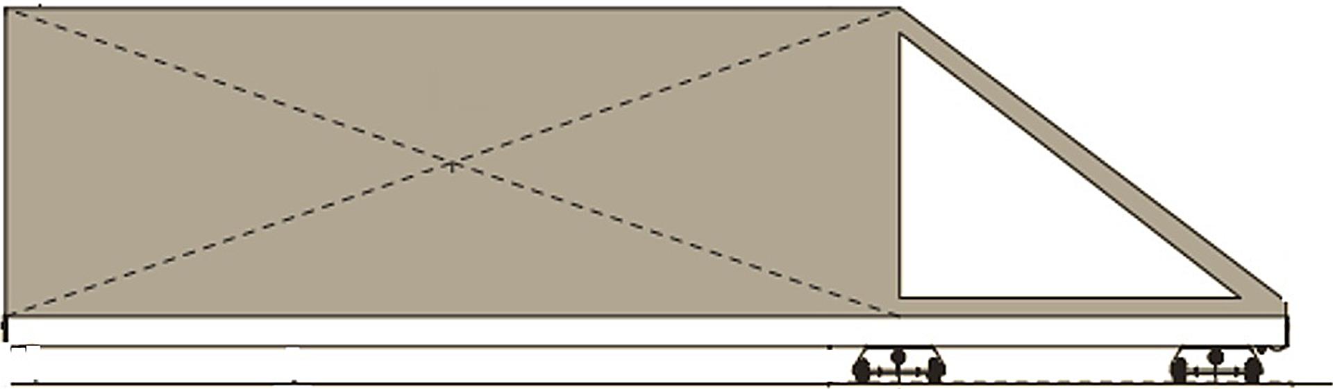 Γκαραζόπορτες συρόμενες χωρίς οδηγό στο έδαφος
